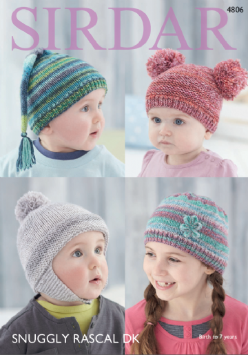 Sirdar  Baby and Childrens Hats  in DK -4806